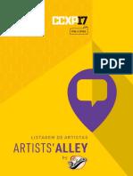 Artists Alley Ccxp 2017 Nome e Mesas