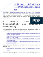 AWS Professional Exam Details