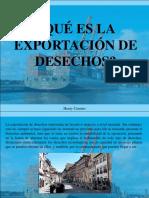 Henry Camino - ¿Qué es la exportación de desechos?