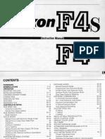 Nikon F4 F4S Manual
