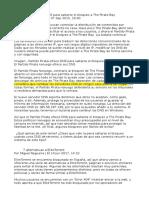 Partido Pirata Ofrece DNS Para Saltarse El Bloqueo a the Pirate Bay