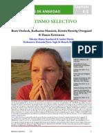 F.5 Mutismo Selectivo Spanish 2018