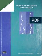 1993 Politicas y Plan Nacional de Salud Mental