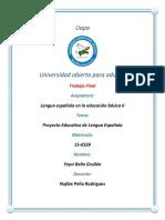 Trabajo Final Lengua Espanola en La Educacion Basica II