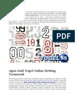 Agen Judi Togel Online Betting Termurah