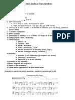Cómo Analizar Una Partitura