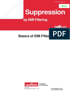 Murata-Basics-of-EMI-Filters pdf | Electronic Filter