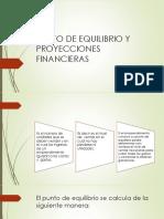 Punto de Equilibrio y Proyecciones Financieras