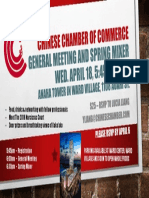 CCCH Spring 2018 General Meeting Flyer
