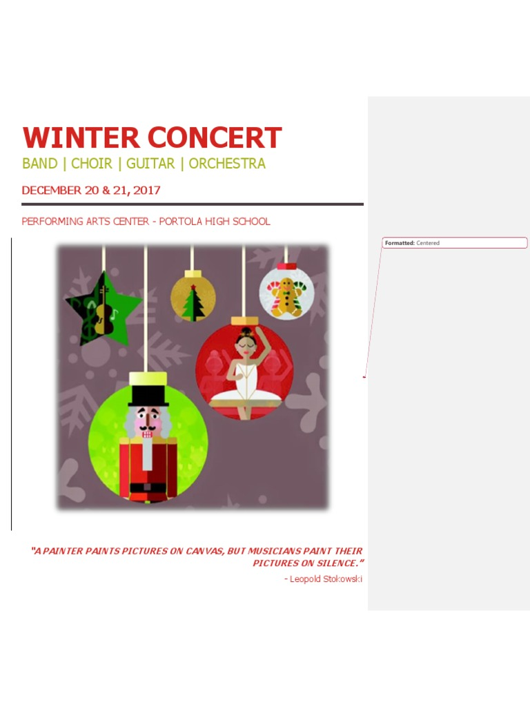 Winter Concert 2017 Program | Jesu, Joy Of Man's Desiring