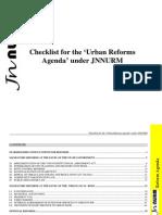 Checklist for the 'Urban Reforms Agenda' under JNNURM