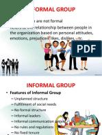 Informal Group Report v2