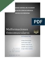 Malformaciones Sistema Osteomuscular
