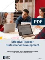 Effective Teacher Professional Development REPORT