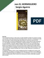 Resumen EL HORMIGUERO SergioAguirre