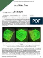Holography Art With Light IYL2015 Blog 05-11-2015