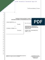 2 17 Cv 01297 MJP Motion to Dissolve PI