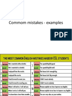 Commom Mistakes - Examples