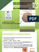 15. Episiotomia y Amniorrexis