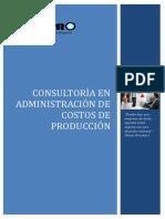 Propuesta Consultoría Administración de Costos de Producción