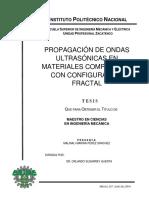 Propagacion de Ondas Ultrasonicas en Materiales Compuestos Con Configuracion Fractal