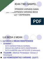 8. Uji Beda 2 Mean Manual