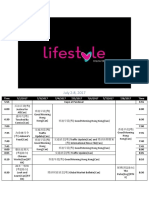 Lifestyle Network Schedule (2017-2018)
