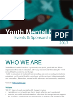 YMHC - Youth Mental Health Canada - Events & Sponsorship Package 2017