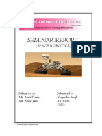Space Robotics Seminar Report 2018 - Copy