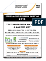 209 RMO 2016 Goa Maharashtra Solution
