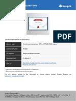 License Elegant Certificate Template 794147