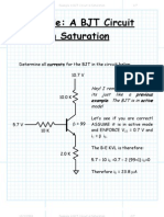 Example a BJT Circuit in Saturation