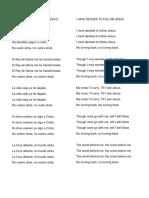 Coros en Español e Ingles