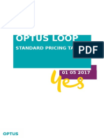Optus Loop Pricing