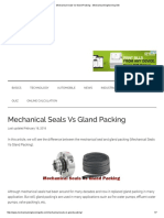 Mechanical Seals vs Gland Packing - Mechanical Engineering Site
