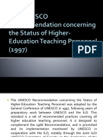 The 1997 Recommendation's Relevance in the Age of Higher E-Learning