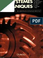 Systemes Mecaniques Theorie Et Dimensionnement
