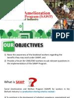 Social Amelioration and Welfare Program (SAWP) Presentation - 21 July 2017