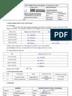 High Voltage Test Report