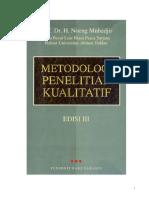 02 Noeng Muhadjir - Metodologi Penelitian Kualitatif