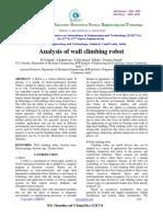 Analysis of Wall Climbing Robot