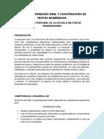 Taller Expresión Oral y Construcción de Textos