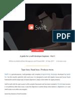 Guide for a Swift Developer Beginner Part i TORUS TECH