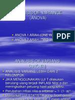 9. Analisis of Variansone Way Manual