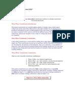 Three Phase Transformer Info