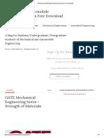 Mechanical Automobile Engineering
