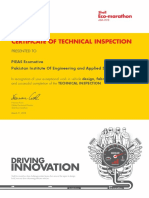Team Certificate