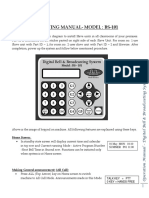 Digital Bell Broadcasting System OPERATING MANUAL BS101
