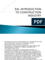 General Introduction to Construction Industry