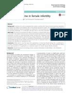 Role of L-carnitine in female infertility